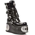 NEW ROCK SPACE M.1473-C1 PLATFORM BLACK PATENT ARRUGADO, SPACE, SPACE M.1473-C1, SPACE M.1473-C1,