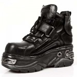 NEW ROCK TURBO M.714-C1 ITALI BLACK HOLE GOTHIC PUNK LEATHER ANKLE BOOT, TURBO, TURBO M.714-C1, TURBO M.714-C1,