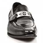 NEW ROCK VIP-1 M.NW113-S11 BLACK BUFFALO Leather Steel Heel LACE UP Shoes, VIP, VIP-1 M.NW113-S11, VIP-1 M.NW113-S11,