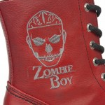 NEW ROCK ZOMBIE BOY M.NEWMILI084-Z5 RED NATURE WITH CANE IN BORDDO, LEATHER BOOTS, ZOMBIE BOY, M.NEWMILI084-Z5 RED, M.NEWMILI084-Z5 RED,