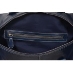HOLDALL  Blue Large Weekend Duffle Travel Gym Real Genuine Leather Bag, Leather Holdalls, HOLDALL  Blue Large, ,