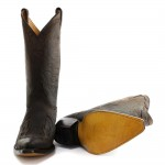 Grinders Arizona Brown Unisex Leather Boot Cowboy Western Slip On Pointed Boots, , Grinders Arizona Brown Unisex, ,