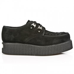 NEW ROCK CREEPER M.2415-C3 BLACK SUEDE LEATHER SHOES
