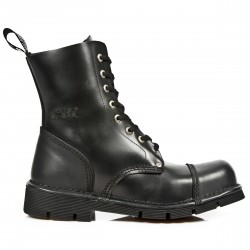 NEW ROCK METAL TOE M.MILI083MT-S2 BLACK LACE UP LEATHER BOOT